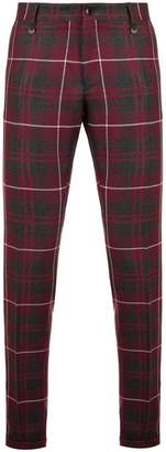 Lords And Fools checked print trousers