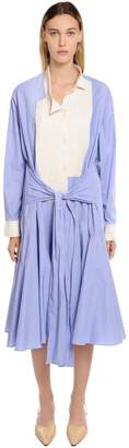 Loewe Two Tone Cotton Shirt Dress
