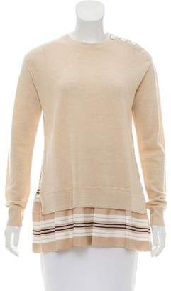 Louis Vuitton Silk-Trimmed Wool Sweater
