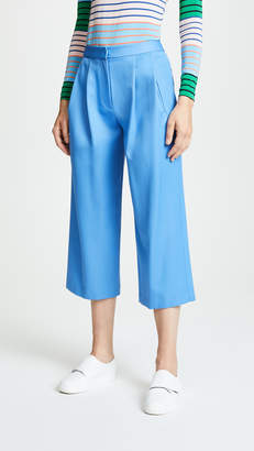 ADAM by Adam Lippes Gabardine Pleated Culottes