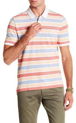 Original Penguin Short Sleeve Birdseye Auto Stripe Polo