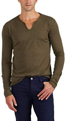 Zadig & Voltaire MEN'S MONASTIR COTTON JERSEY LONG-SLEEVE HENLEY