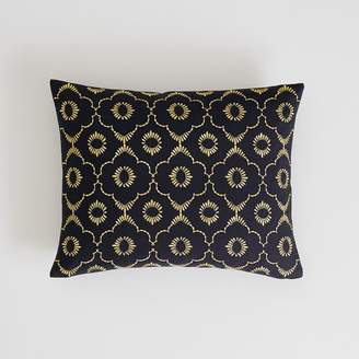 Pottery Barn Teen Metallic Embroidered Pillow Cover, 12X16, Vintage Ebony