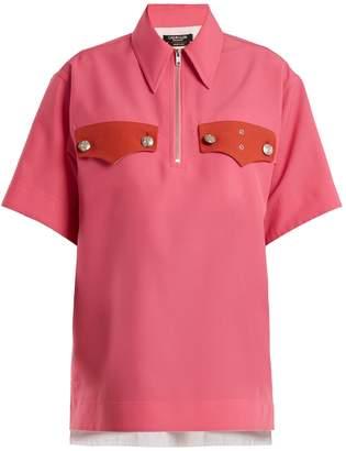 Calvin Klein Oversized half-zip woven top