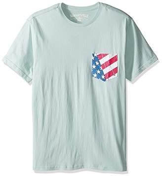 Margaritaville Men's Sailboat Americana Pocket T-Shirt