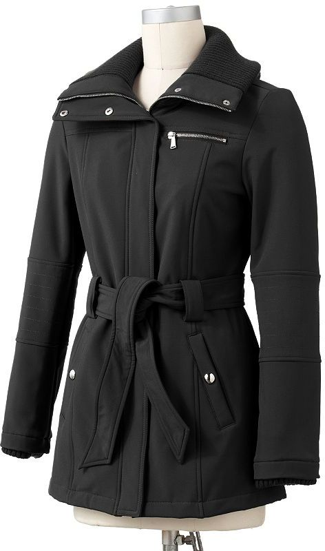 Apt. 9 soft shell trench jacket