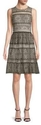BCBGMAXAZRIA Point D'Esprit Tulle A-line Dress