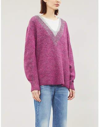 Rag & Bone Jonie V-neck stretch-knit jumper