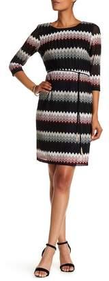 Sandra Darren Chevron Knit Dress