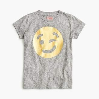 J.Crew Girls' winking emoji T-shirt