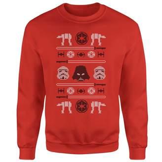 Star Wars Imperial Knit Red Christmas Sweatshirt