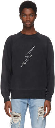 Givenchy Black Lightning World Tour Vintage Sweatshirt
