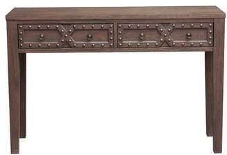 URBAN RESEARCH Charlton Home Starr Traditional Distressed 2 Storage Console Table