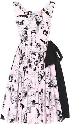 Prada Sleeveless printed cotton dress