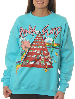 Asstd National Brand Pink Floyd Juniors' Symbolic Tribute Neon Crewneck Graphic Sweatshirt