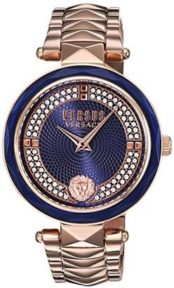 Versus By Versace Women's 'Covent Garden Crystal' Quartz Stainless Steel and Gold Plated Casual Watch(Model: VSPCD2717)