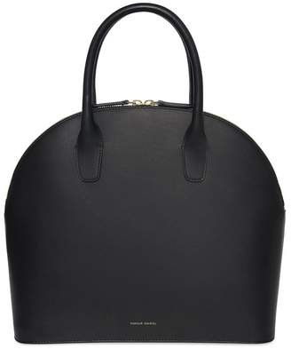 Mansur Gavriel Black Top Handle Rounded Bag - Flamma