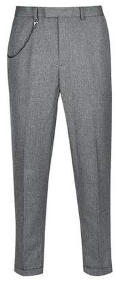 Mens Carrot Fit Textured Trousers