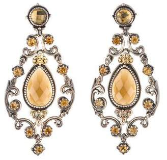 Konstantino Cognac & Citrine Chandelier Earrings