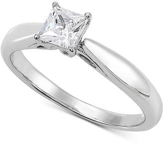 Grown With Love Lab Grown Diamond Princess Solitaire Engagement Ring (1/2 ct. t.w.) in 14k White Gold