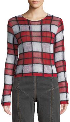 McQ Sheer Checker Sweater