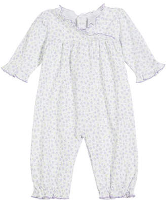 Kissy Kissy Rambling Roses Printed Pima Coverall, Size 3-24 Months