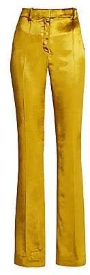 Ralph and Russo Women's Shiny Liquid Velvet Wide Leg Pants