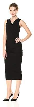 Michael Stars Women's Cotton Lycra Sleeveless Crossover Dress