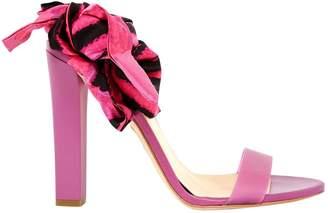 Roberto Cavalli Pink Leather Sandals