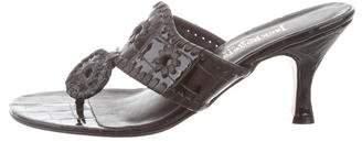 Jack Rogers Patent Leather Slide Sandals