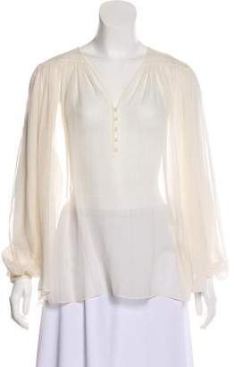 Nina Ricci Silk Long Sleeve Blouse