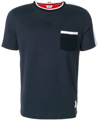 Thom Browne Bicolor Half-And-Half Short Sleeve Tee