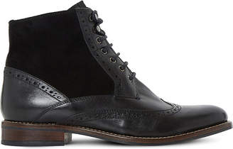 Dune Philomena leather brogue ankle boots