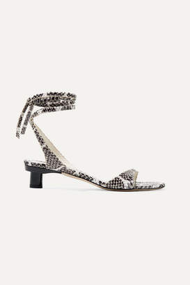 348de7836 Tibi Scott Snake-effect Leather Sandals - Snake print