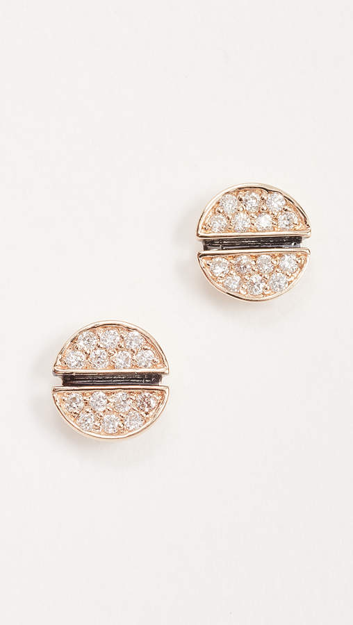 Small Pave Screw Stud Earrings