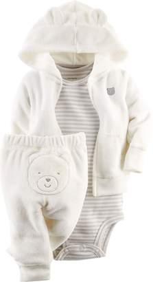 Carter's Unisex Baby 3 Piece Terry Cardigan Set (Baby) - 9M