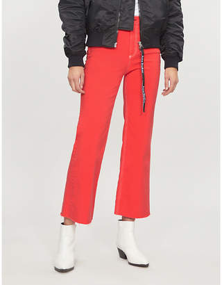 Rag & Bone Justine cropped high-rise wide-leg jeans
