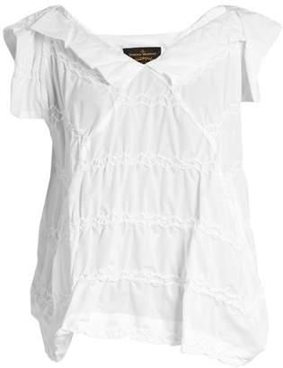 Vivienne Westwood Godet zigzag-stitched top