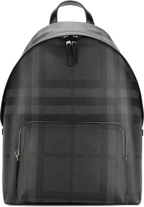 Leather Trim London Check Backpack