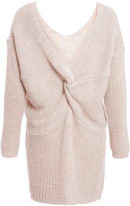 d6f080bfc503 Next Womens Quiz Knitted Knot Front Long Sleeve Jumper Dress