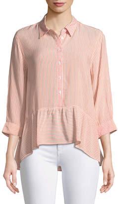 Velvet Heart Roseann Peplum Button-Front Blouse