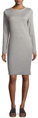 James Perse Scoop-Back Long-Sleeve Skinny Dress