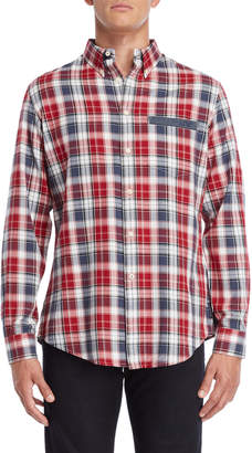 Armani Jeans Comfort Fit Plaid Button-Down Shirt