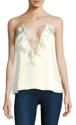 CAMI NYC The Ruffle Charlie Silk Camisole