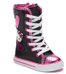 Hello Kitty Zowie Toddler Girls' High-Top Sneakers $44.99 thestylecure.com