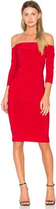 Norma Kamali Off Shoulder Shirred Dress $135 thestylecure.com
