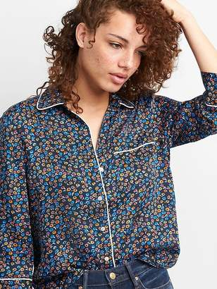 Gap Three-Quarter Sleeve Print Shirt