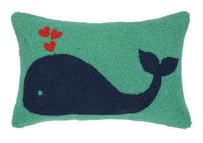 Wayfair Whale Heart Lumbar Pillow