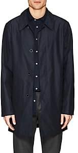 Fay Men's Cotton-Blend Tech-Taffeta Raincoat - Blue