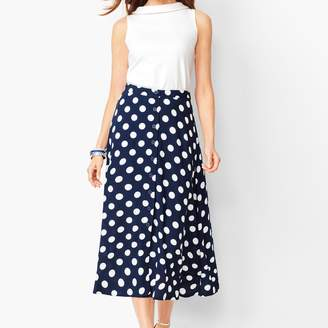 Talbots Dotty Print Midi Skirt